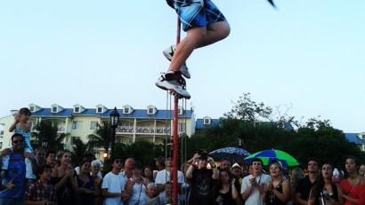佛羅里達自由行Key-West街頭藝人表演